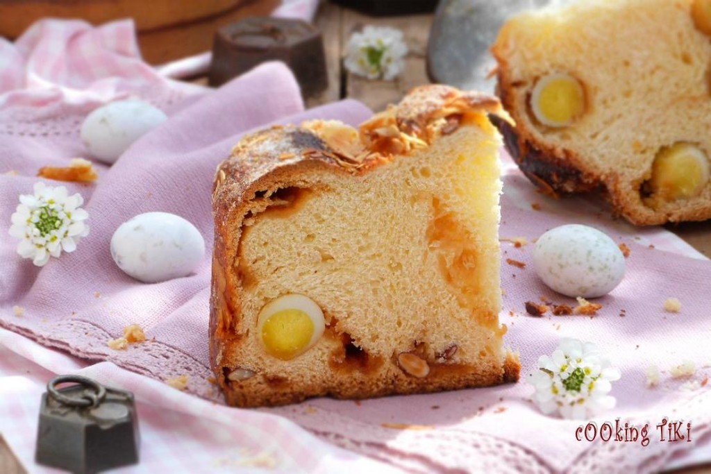 Козунак с карамел и варени яйца3 1024x683 Easter brioche with caramel and boiled eggs