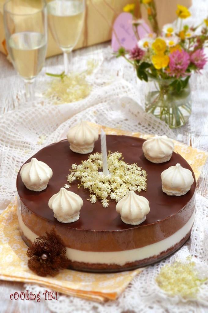 Крем торта с бъз и шоколад2 681x1024 Creamy cake with chocolate and elderflower