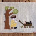 Пано стена под дървото 150x150 Patchwork wall canvas