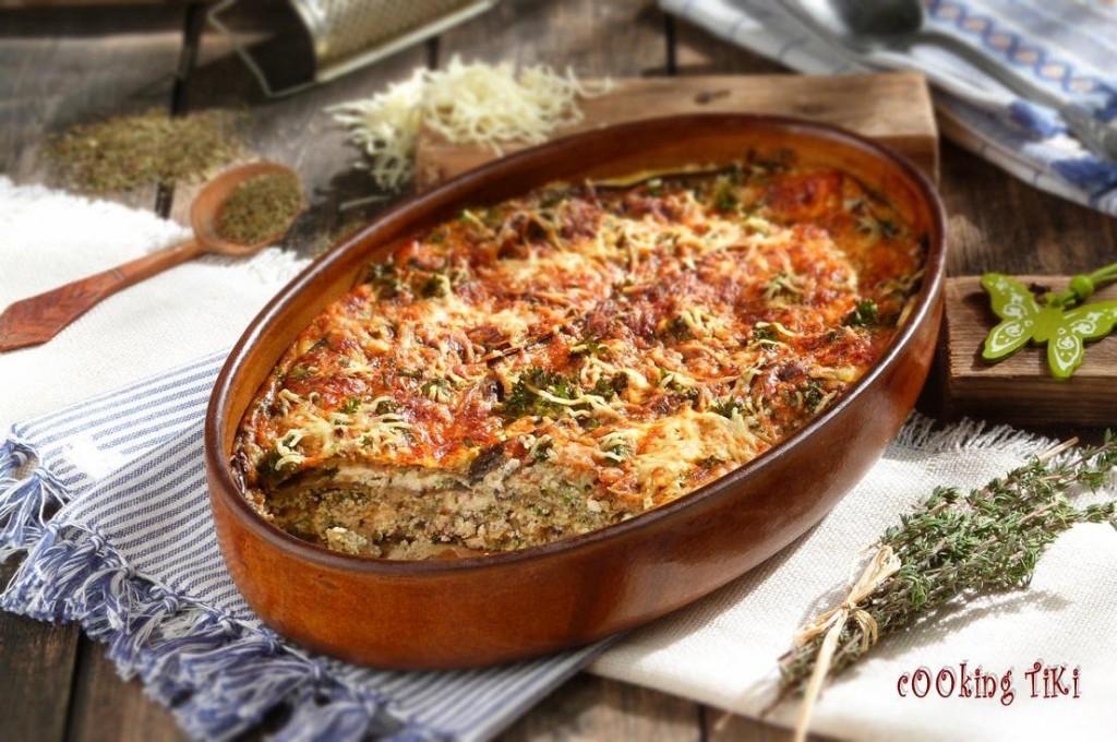 Огретен с патладжани и прясно козе сирене1 1024x680 Eggplant gratin with fresh goat cheese