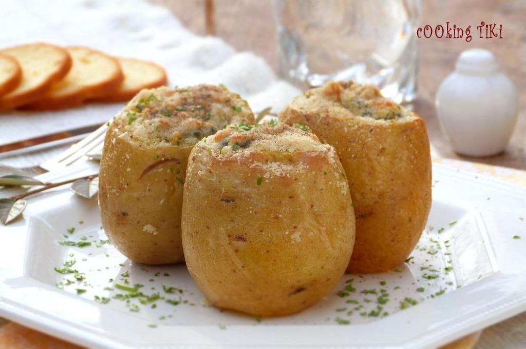 Пълнени картофи със спанак 31 1024x681 Stuffed potatoes with spinach