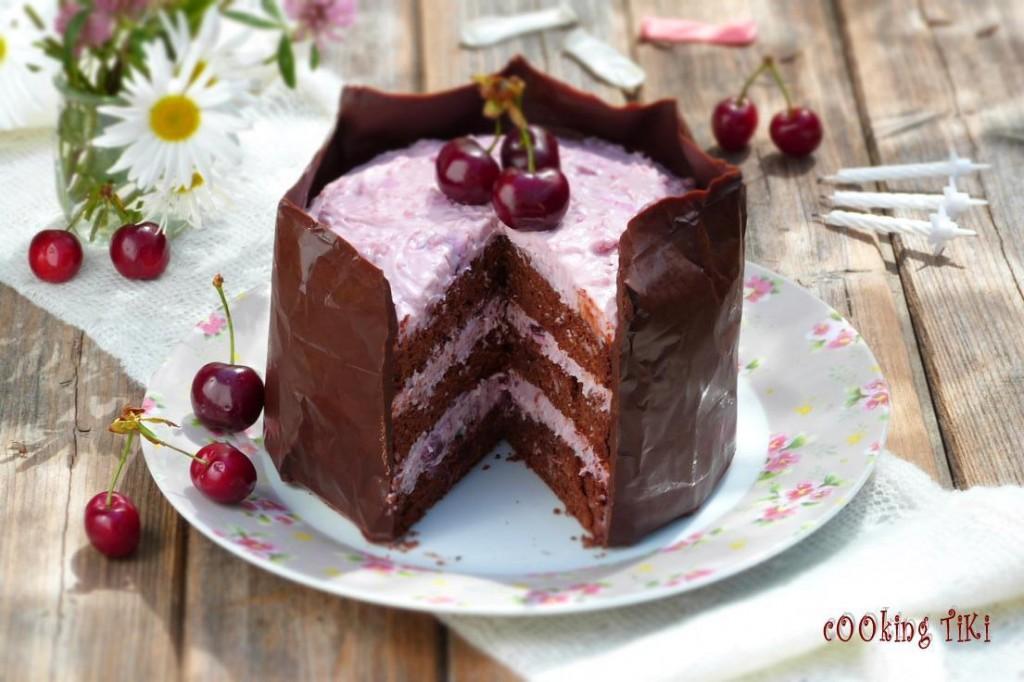 Шоколадова торта с череши 21 1024x682 Chocolate and cherry cake