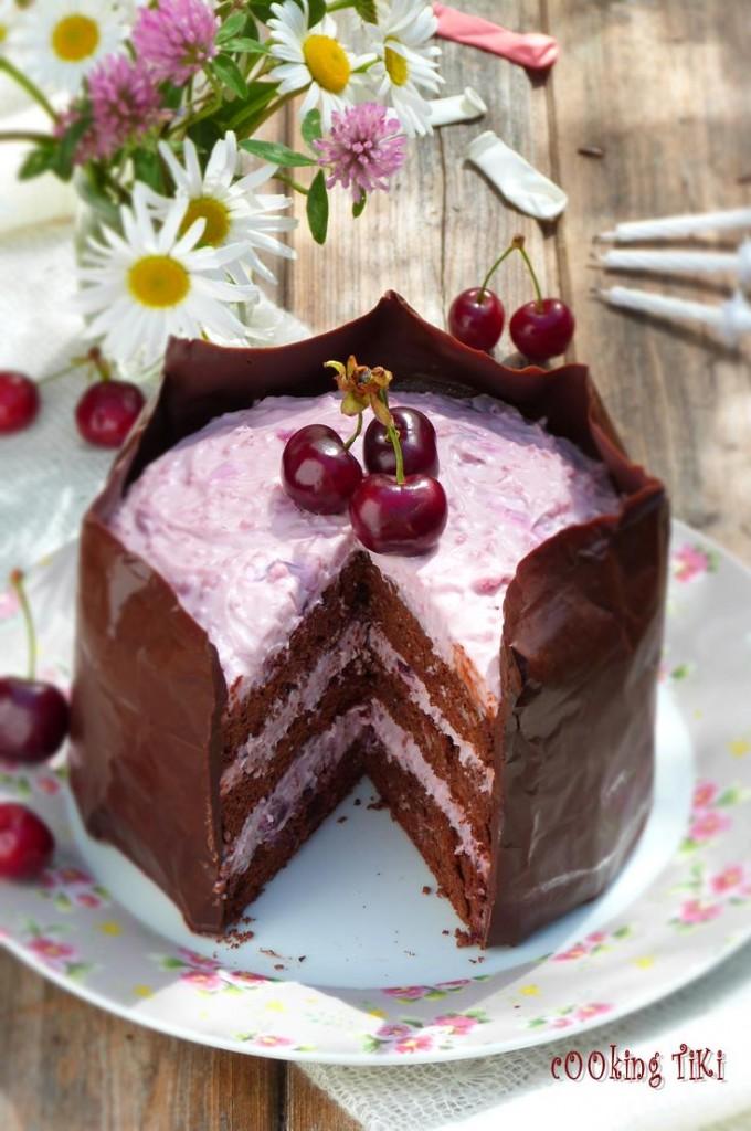 Шоколадова торта с череши 31 680x1024 Chocolate and cherry cake
