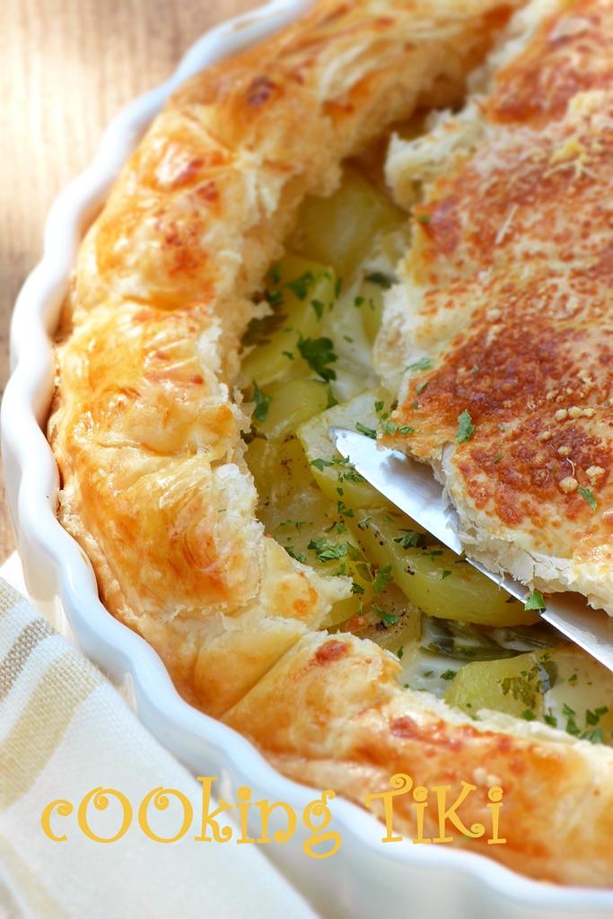 Френски пай с картофи и сметана 22 French potato pie